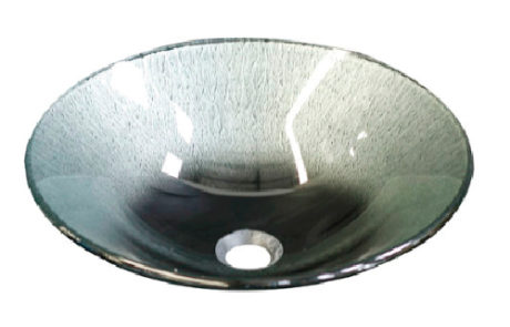 basins - Castano - SILVER SUNSET GLASS BASIN - SKU:SSOVCB