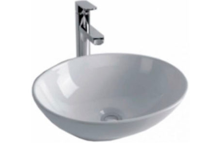 basins - Impressions - IDEAL 400 OVAL ABOVE COUNTER TOP BOWL - SKU:VCB7082