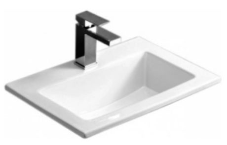 basins - Impressions - TONY 500 SLIM SELF RIMMING BASIN - SKU:K-503