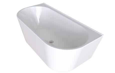freestanding baths - Decina ALEGRA 1400 BACK-TO-WALL FREESTANDING BATH - SKU:AG1400W