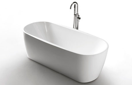 freestanding baths - Decina MILAN 1500 OVAL F/S BATH - SKU:MI1500WOV