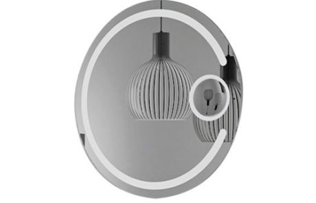 mirrors - Thermogroup - ROUND BACK-LIT MIRROR 800MM - SKU:BSM80C