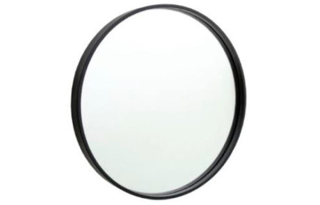 mirrors - Thermogroup - ROUND MIRROR WITH BLACK FRAME 600MM - SKU:BMR60BF