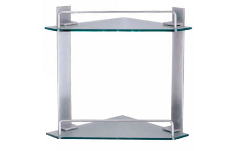 accessories - Fienza - MODENA CNR GLASS SHELF DBL - SKU:E230A