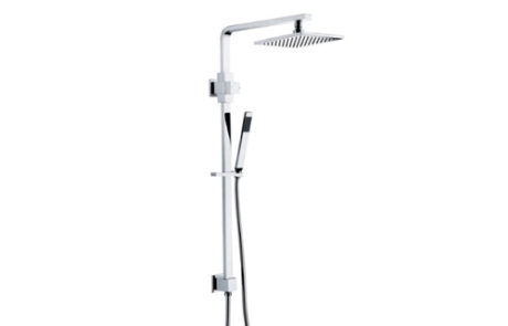 shower - Castano - ELBA TWIN HEAD SHOWER ON RAIL - SKU:ELTWSOR