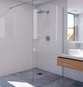 showerscreens - Decina - M SERIES SHOWER PANEL W/MOUNT - SKU:MSP960