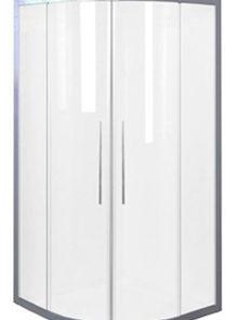 showerscreens - Marble Trend - DAINTREE CURVED 1000X1000 CORNER - SKU:SSDA99CHCLP