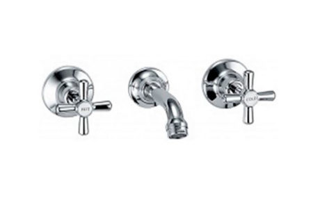 tapware - Fienza - HOUSTON BATH SET CHROME - SKU:331102